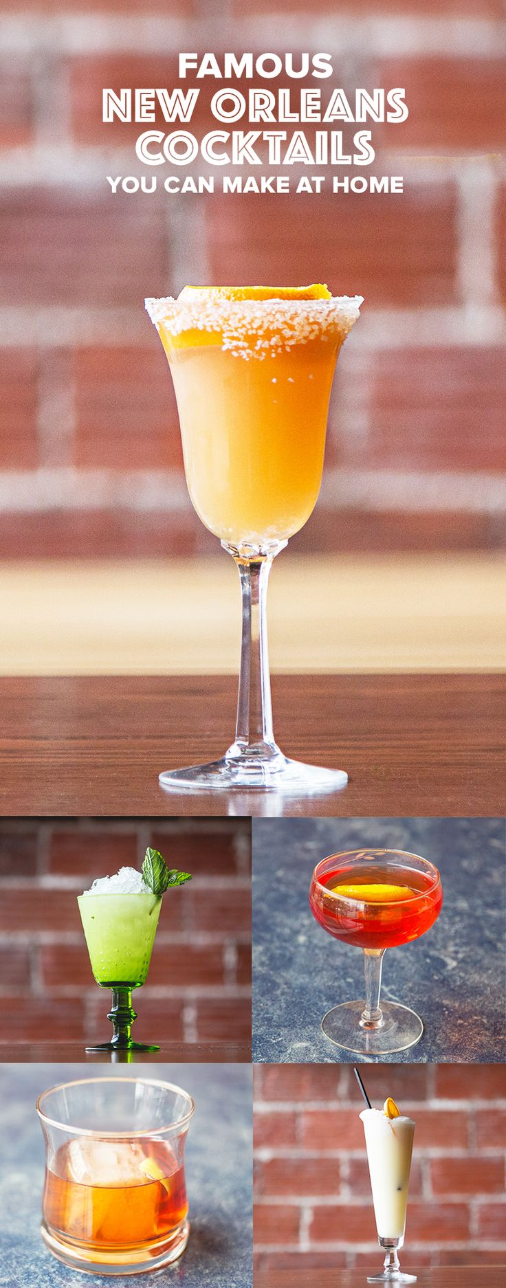Check out preferred recipes for New Orleans cocktail classics like the Sazerac, Brandy Crusta, Vieux Carre, Absinthe Frappe, and Ramos Gin Fizz. Great for Mardi Gras!