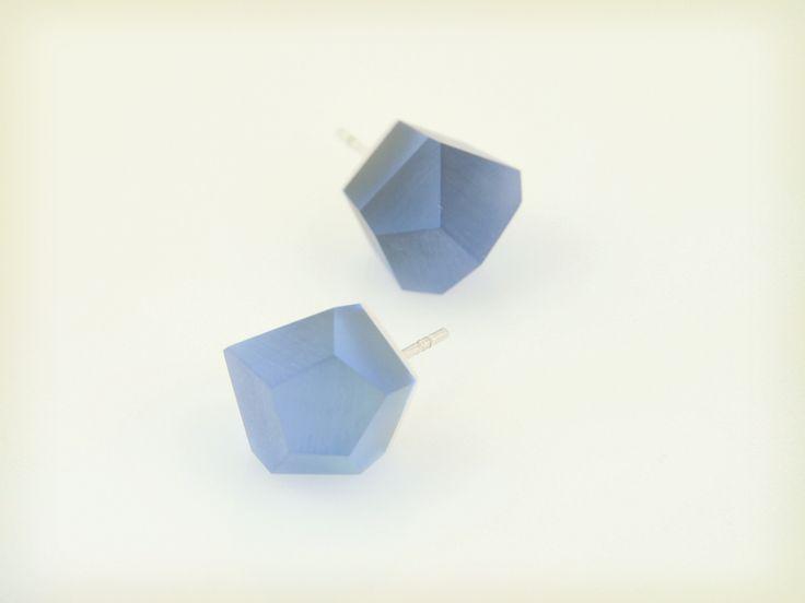 Petite Vu – srebrne kolczyki, błękit ceruleum w Fruit Bijoux na DaWanda.com