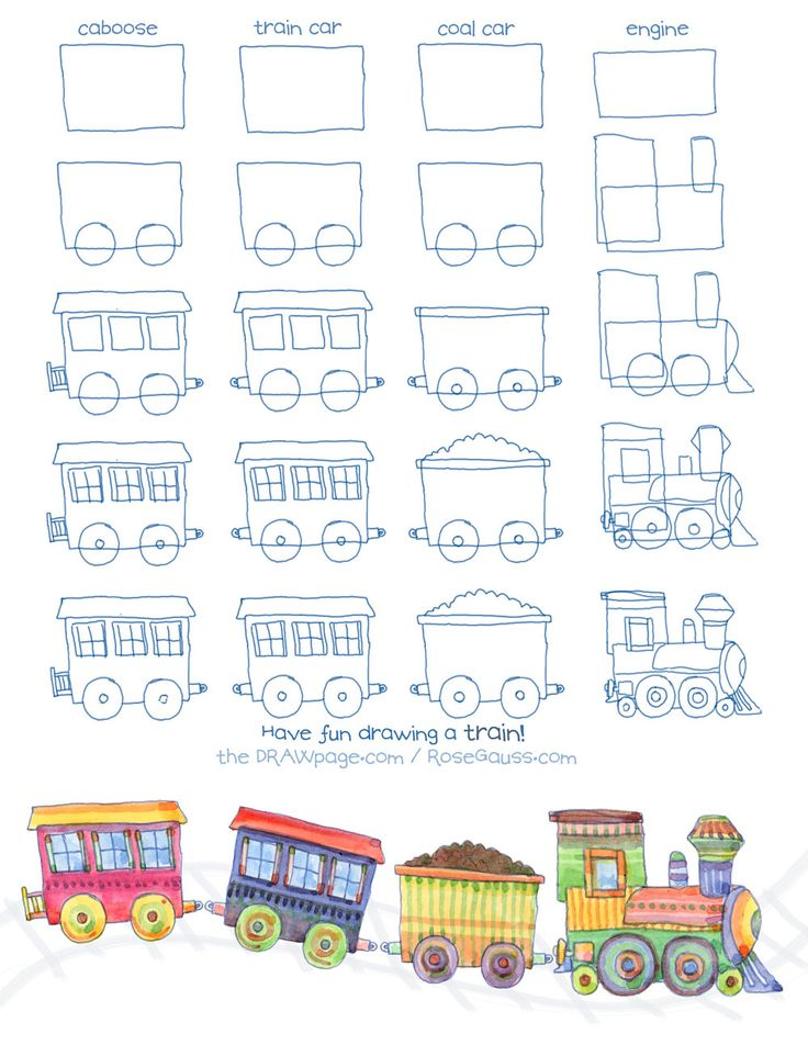 christmas train coloring book images | Have fun drawing and coloring with your kids!