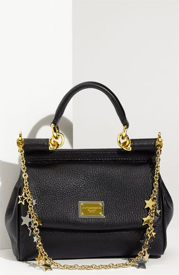 Dolce&Gabbana 'Miss Sicily - Mini' Satchel with Star Chain Strap
