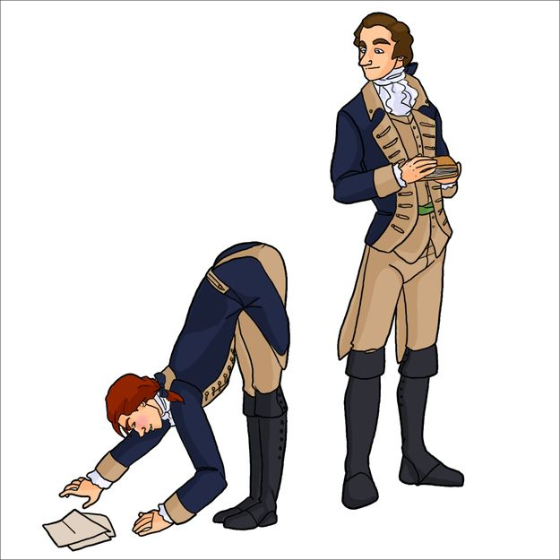 Damn, Hamilton, how you gonna just give it away to John Laurens for free though? | Pinup Founding Fathers Make Independence A Whole Lot Sexier