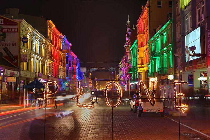 Łódź, Light Move Festival, 2012, Piotrkowska St