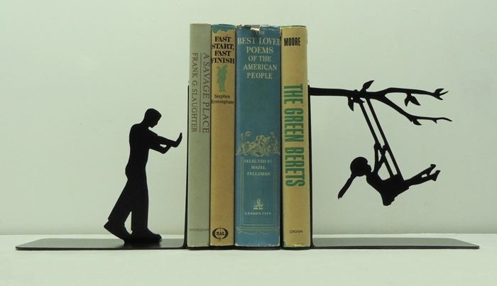 Creative Metal Art Bookends To Add Attention To Your Prized Collection | DROOL'D