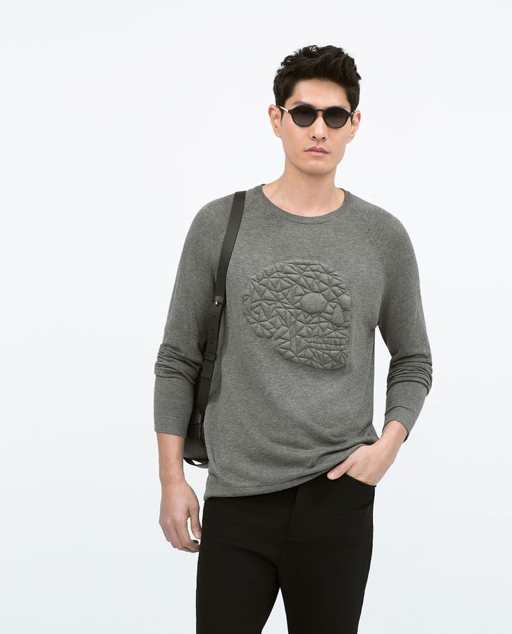 QUILTED SKULL SWEATER