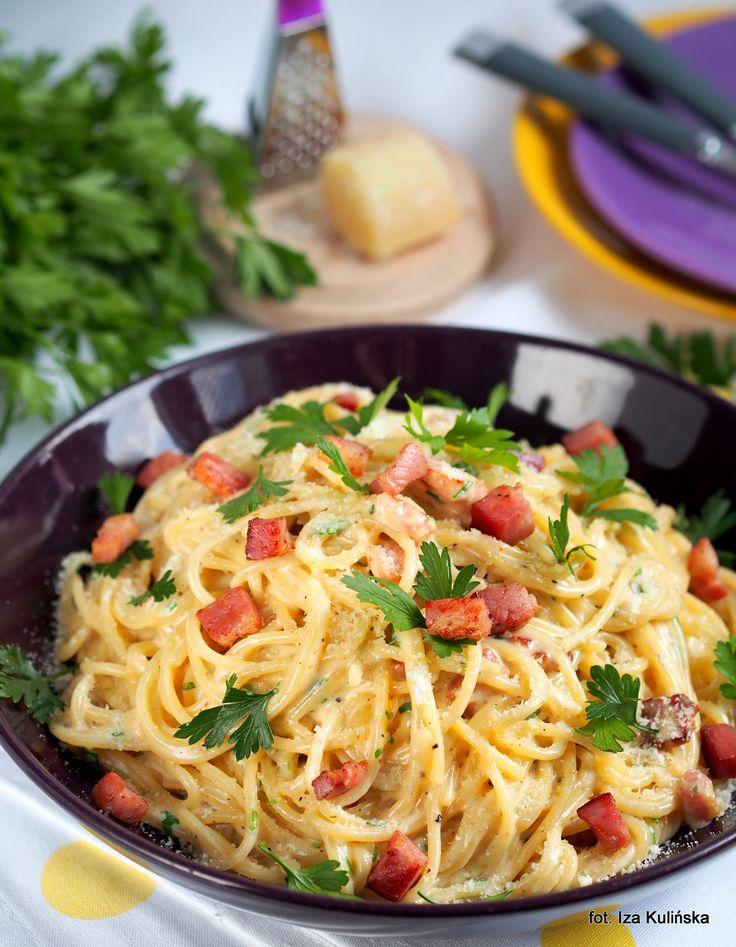 Smaczna Pyza: Obiad. Makaron. Spaghetti a'la carbonara