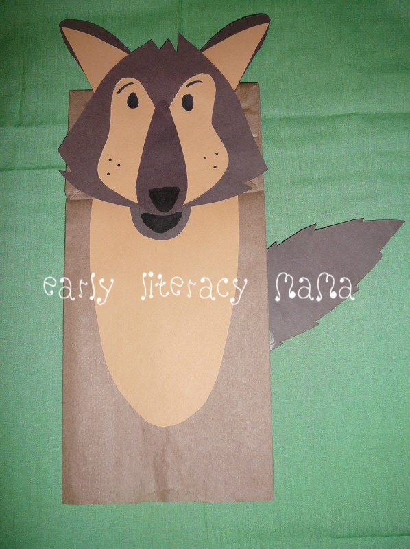 Kids Craft Wolf Paperbag Puppet