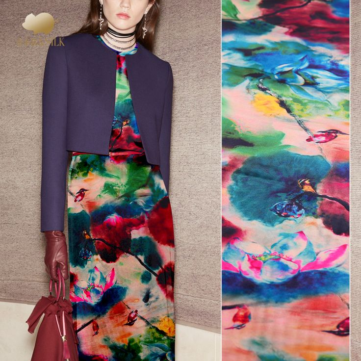 Aliexpress.com : Buy 2018 new flower pattern silk fabric digital inkjet silk stretch satin fabric soft silk fabric for dress wholesale silk cloth from Reliable satin fabric suppliers on Beyonce's  Fabric Online Store  (Wholesale and retail)