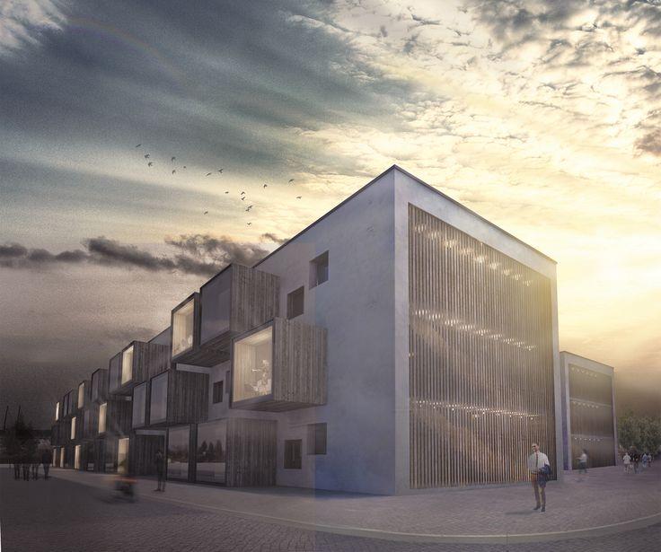 School complex - design proposal, Ivana Linderova, 2014