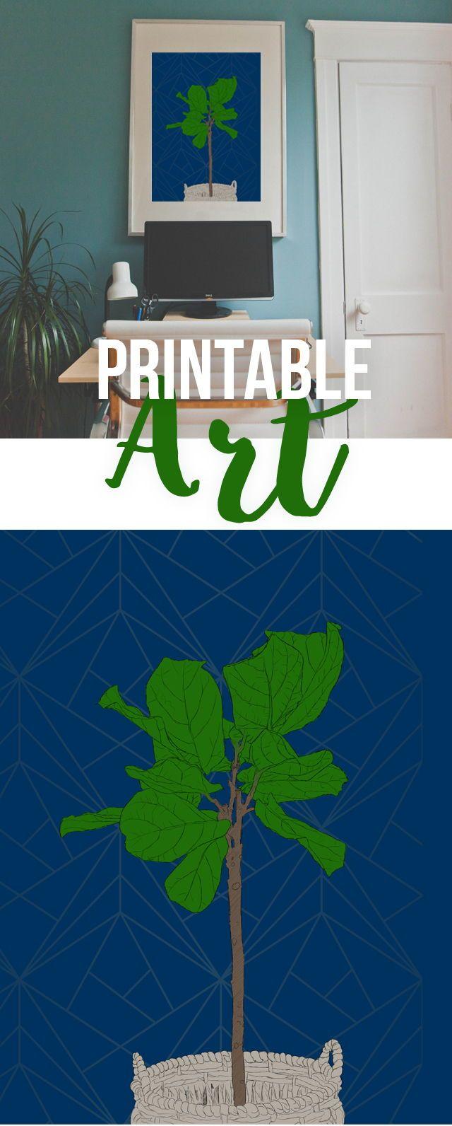 Printable Fiddle Leave Tree Art