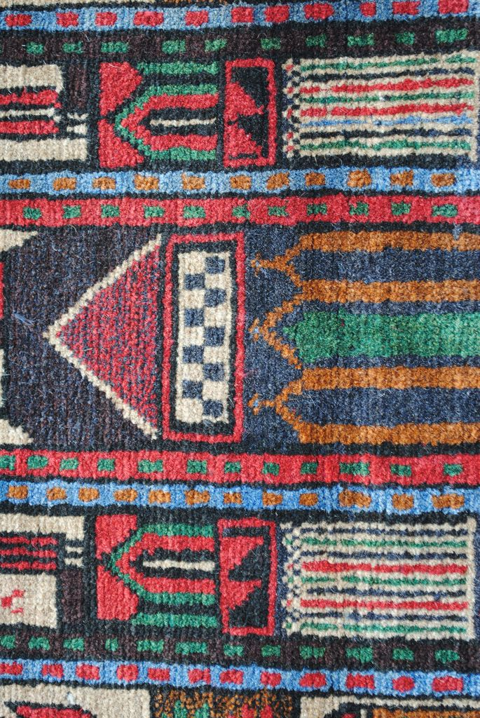 Handmade Woolen Carpet BELUTCH 0,83 x 1,36 cm  ( part of carpet) | ioakeimidis