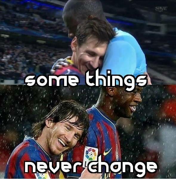 Lionel Messi et Yaya Touré : Une belle amitié - http://www.actusports.fr/90606/lionel-messi-et-yaya-toure-une-belle-amitie/