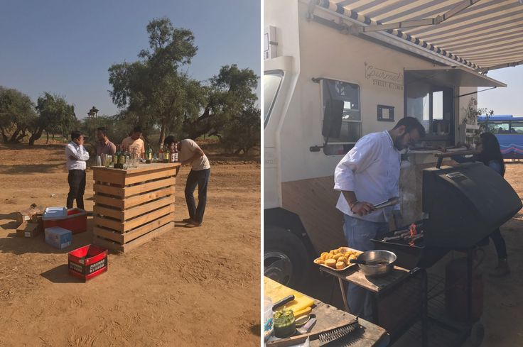 surprise BBQ by good folks at The Gourmet Street Kitchen & Artisan Meats in the middle of a village in Haryana on a very hot Friday! Despite the hot weather, Jameson bar kept everyone cool.