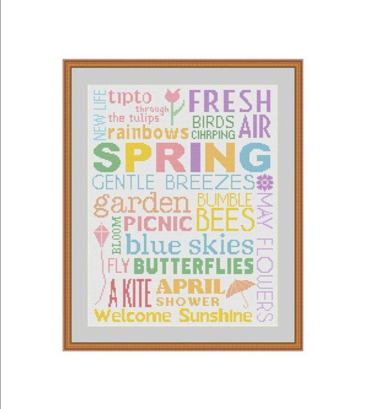 25 Fresh Cross-Stitch Patterns for Spring