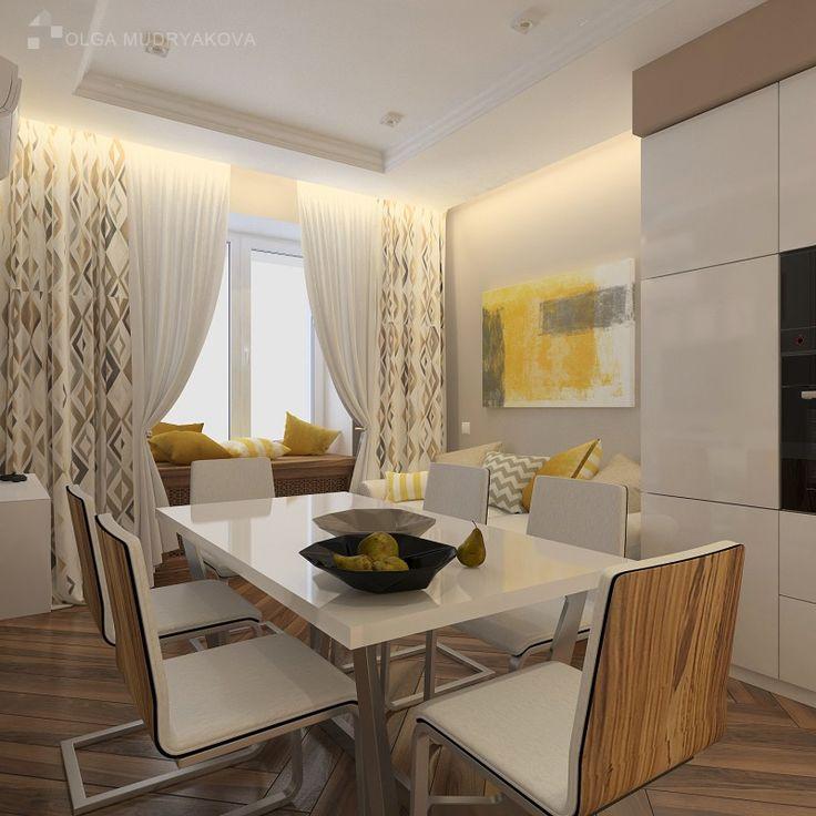 Дизайн интерьера кухни в современном стиле в ЖК Новый Оккервиль в Спб