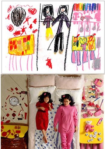 Yeondoo Jung recreates children's drawings