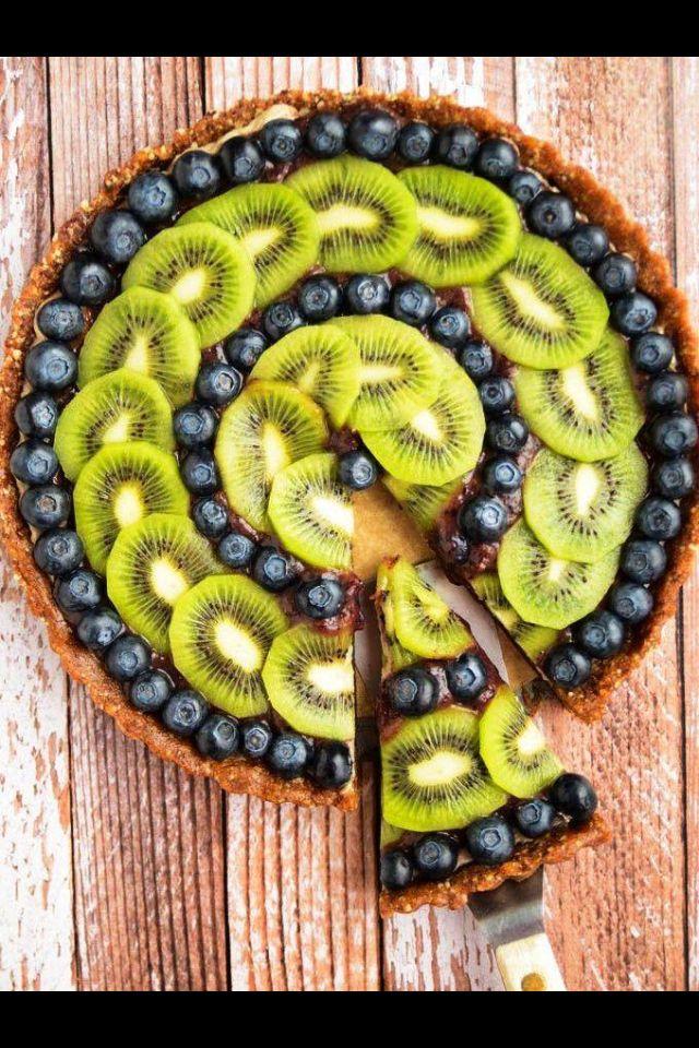 Pretty fruit tart.