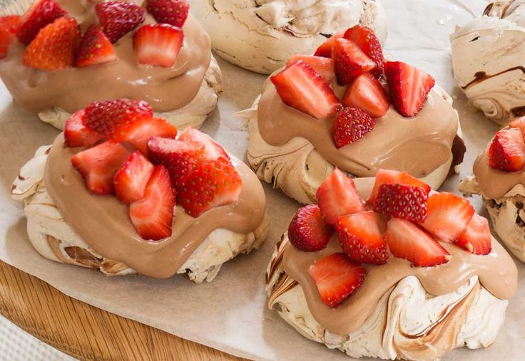 Haigh's Chocolate & Strawberry Pavlovas