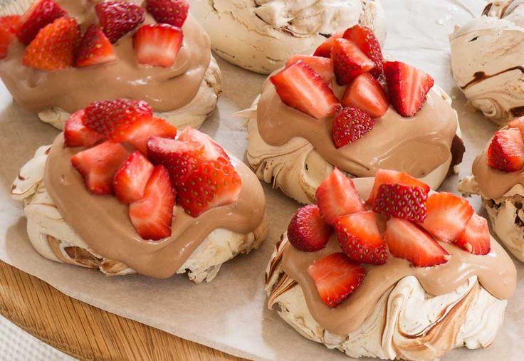 Haigh's Chocolate & Strawberry Pavlovas