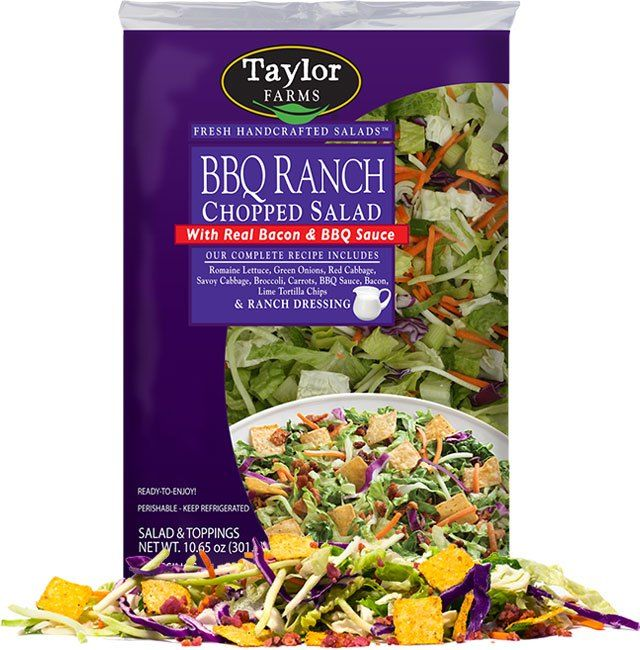 Satisfy your sweet tooth with Taylor Farms Sweet Kale Chopped Salad. Broccoli, Brussels sprouts, cabbage, kale and chicory, topped with all natural, dried cranberries, roasted pumpkin seeds, and poppyseed dressing. Go ahead, indulge!