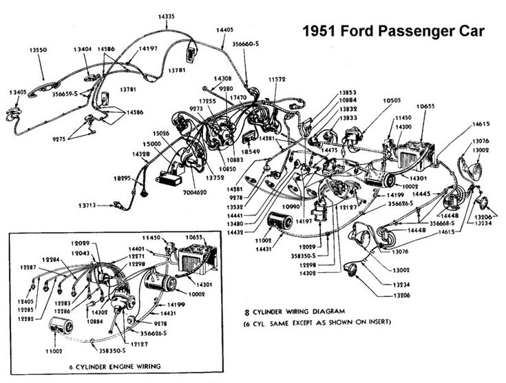 wiring diagram for 1951 ford