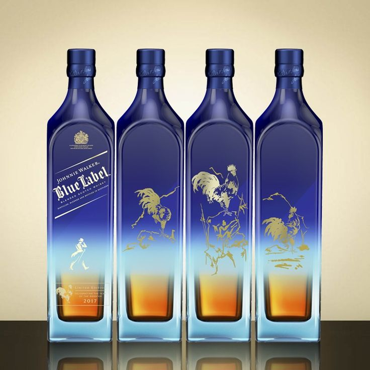 2017 Year Of The Rooster 4 Bottle Set Johnnie Walker Blue Johnnie Walker Johnny Walker Blue Label