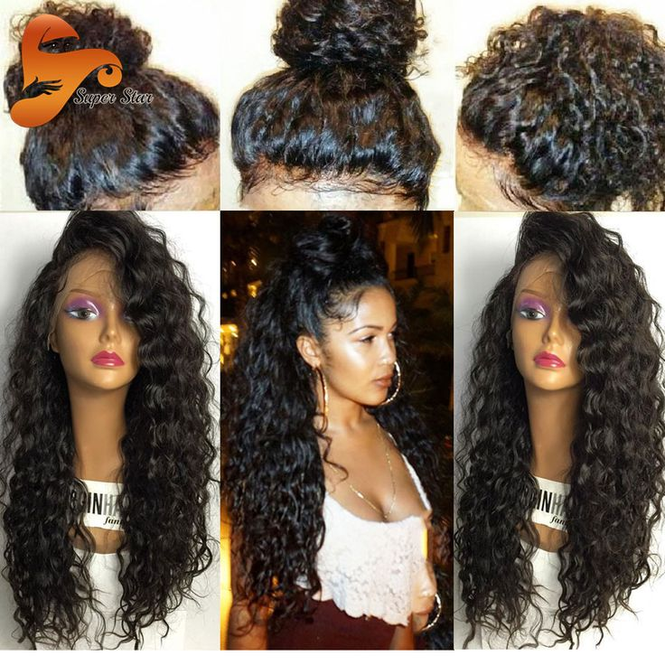 8A Curly Full Lace Human Hair Wigs For Black Women Virgin Brazilian Full Lace Front Wigs Pre Plucked Lace Front Human Hair Wigs