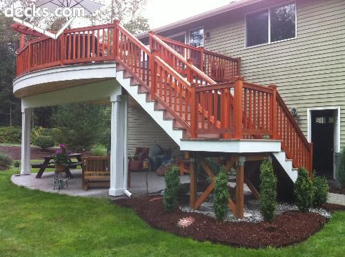 Wood Deck Elevation : Best images about deck patio on pinterest hot tub