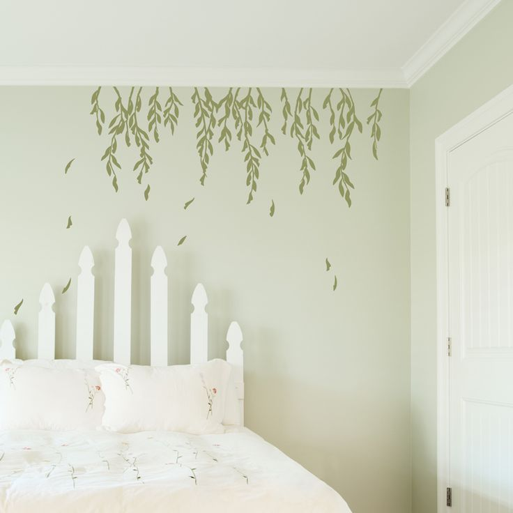 Perfect Pretty Falling Willow Leaves And Branches Decal For A Bedroom Wall | Wallums
