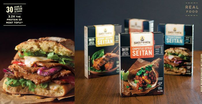 Sweet earth pre-made food packaging