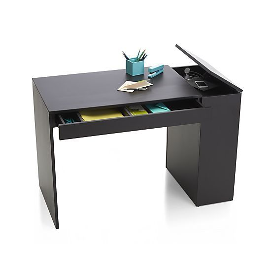 17 Best Ideas About Black Desk On Pinterest Small Desk