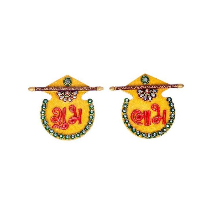 Designer Kundan Matki Shubh Labh Door Hanging http://goo.gl/3OlRI1