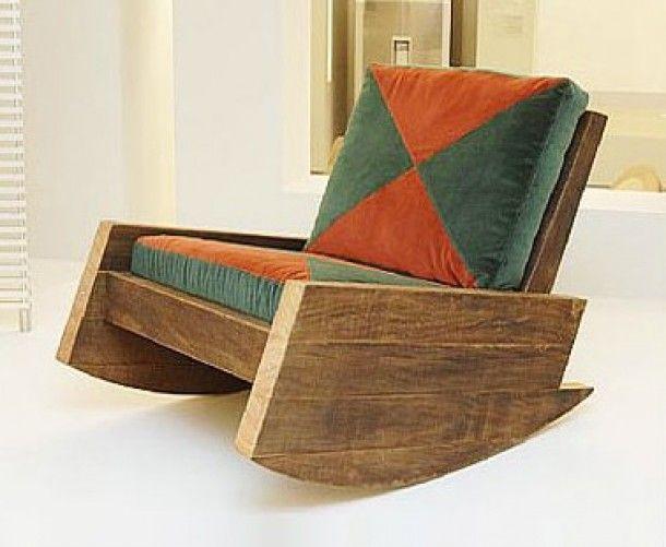 Schommelstoel steigerhout