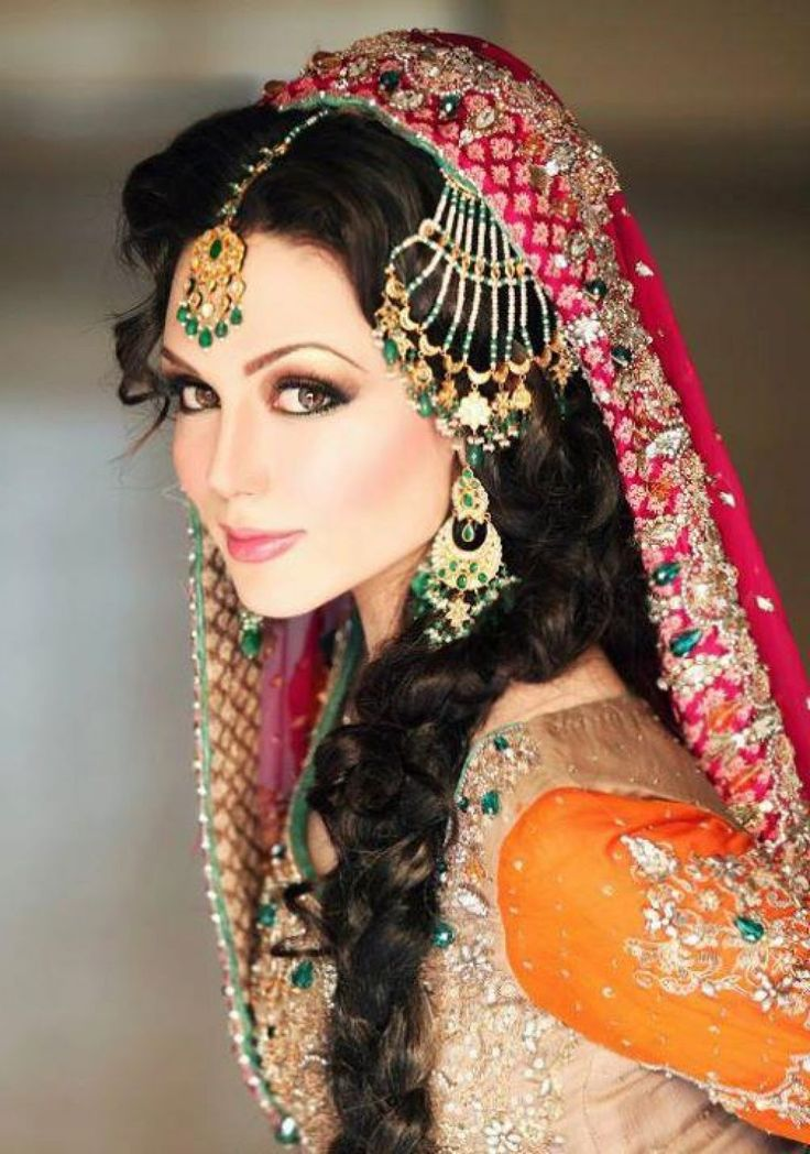 Pakistani Hair Style #Wedding #Bride #Beautiful