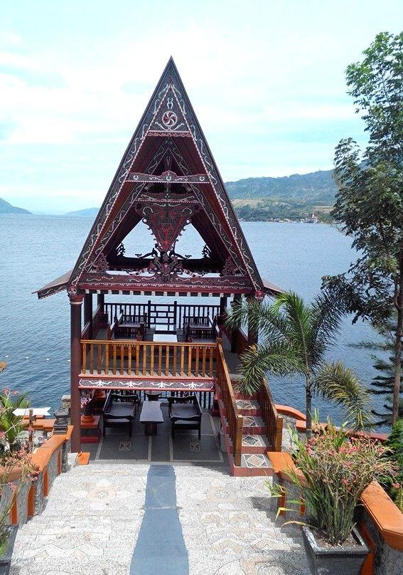 Samosir village Hotel Tuk Tuk. Lake Toba. North Sumatera