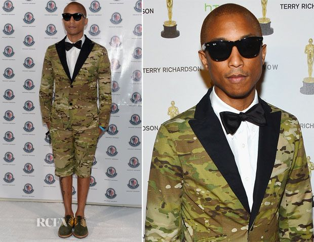 No one does a camo suit. Only Pharrell