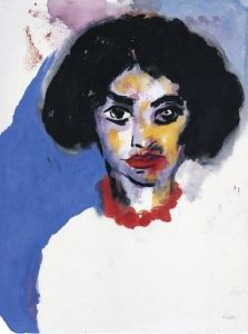 Frau T. in a Red Necklace - Emil Nolde - The Athenaeum