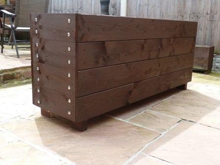 wood trough, garden trough, garden planter, extra big planter