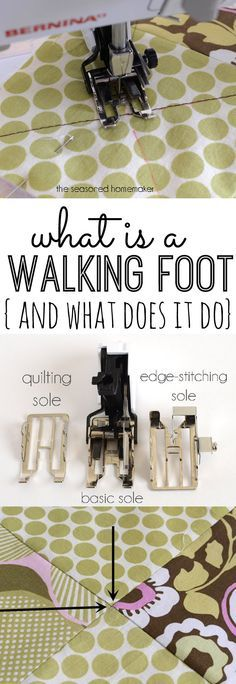 Have you every wondered How to Use a Sewing Machine Walking Foot. | Find fun fabrics for your next project www.myfabricdesigns.com