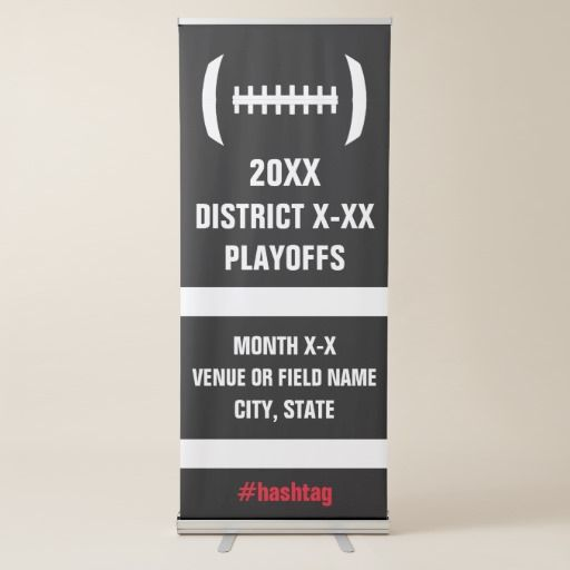 High School Football Playoffs or Championship Game Retractable Banner #football #banner #playoffs #highschoolfootball #championship #footballcoach