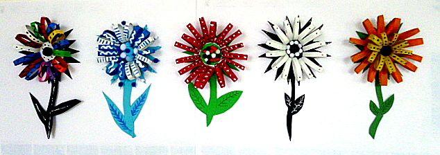 OpaBilder/basteln-bunte-Blumen-Kuechenpapierrollen-2