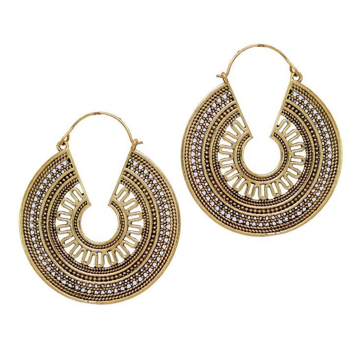 Vintage Indian Designer Golden Oxidised Dangler Women Jewelry Earring GSE288GLD