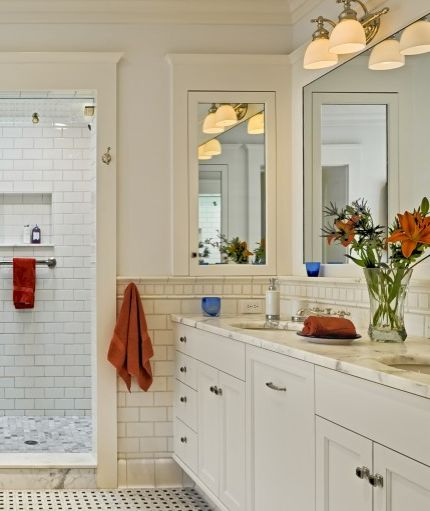 Inspiration for our DIY medicine cabinet. Large Bathroom MirrorsBathroom ...