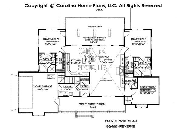 Small Country Ranch Style House Plan SG-1681 Sq Ft | Affordable Small Home Plan under 1700 Square Feet