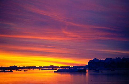 Antarctic sunset!!!