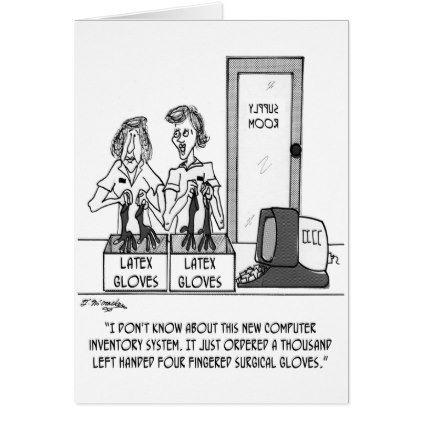 #nurse - #Hospital Cartoon 1830 Card