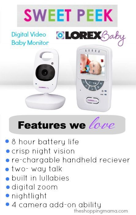 "Lorex BB2411 2.4"" Sweet Peek Video Baby Monitor"