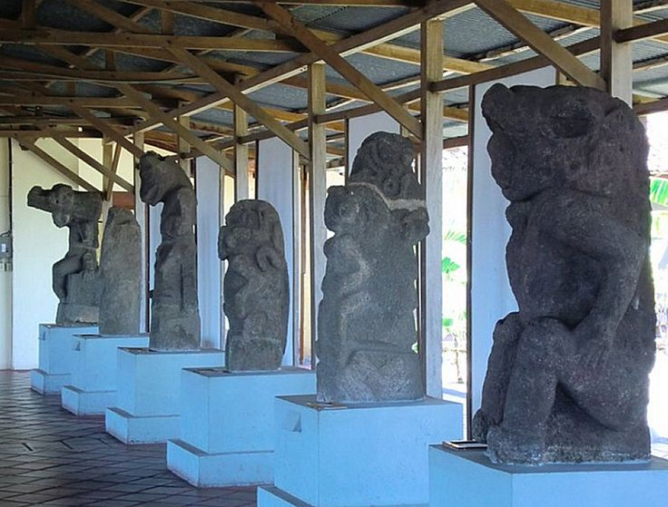 Basalt sculptures carved by the Chorotega people of Isla Zapatera between AD 800 & 1200.