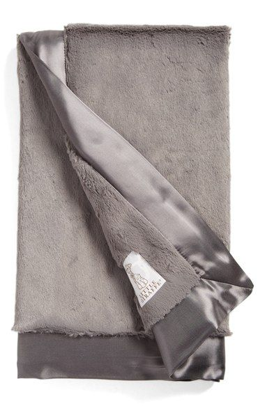 """Our little Lady is Spoiled already, Her Auntie Key & lil Man Elliott bought her this cute blanket in Silver! She is bound to love it!    Little Giraffe 'Luxe' Baby Blanket available at #Nordstrom"