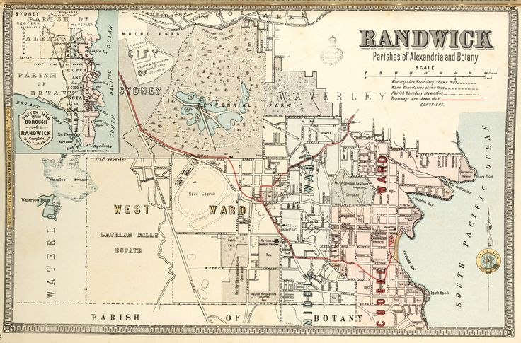 Randwick borough map. Available to purchase as an archival print. Contact the Library Shop for details. Print number C006720038