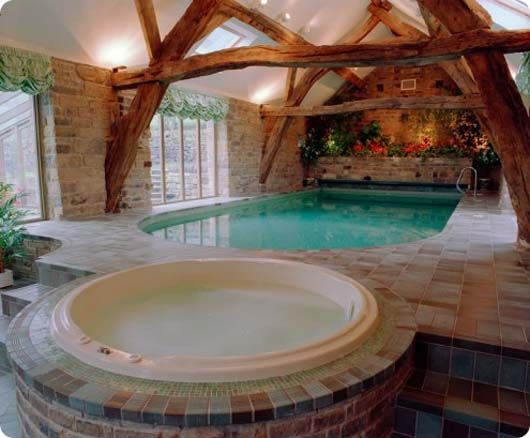 Indoors Swimming Pool (except I don't particularly like d wooden Beams)  via @traceycttIndoor Pools, Indoor Swimming Pools, Expo Beams, Pools House, Dreams House, Pools Landscapes, Hot Tubs, Landscapes Design, Pools Design